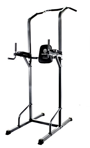 Marcy TC-3515 Power Tower Multi-Grip Pull Up & Dip Station VKR Home Gym, 74 lb, Black