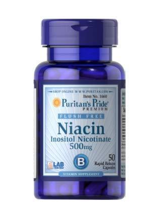 Puritan's Pride Niacin 500 mg Flush Free 50 Capsules 1660