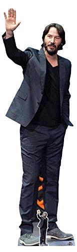 Star Cutouts CS798 Keanu Reeves Most Excellent Pappaufsteller in Lebensgröße, 194 cm, inkl. Mini-Schreibtischständer, mehrfarbig