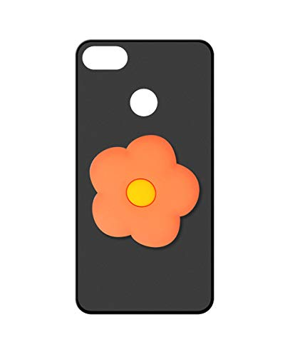 Sunrive Kompatibel mit Nubia Z11 Mini Hülle Silikon, Ständer Fingerhalter Fingerhalterung Handyhülle matt Schutzhülle Etui Hülle (Orangenblume) MEHRWEG