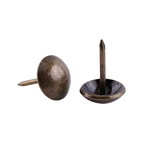 Akozon Chiodi Mobili,100pz Vintage Upholstery Nails Metallo Mobili Divano Porta Decorativo Chiodi Antichi Chiodini Tappezzeria (Unghie lisce: 12 * 17)