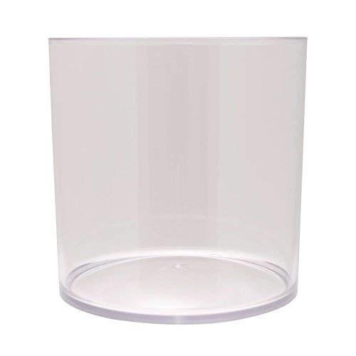 Inerra 15cm Transparent Acryl Zylinder - Schreibwaren Stift Kanne/Orchidee Blumenvase/Kaffee Pod Aufbewahrung - Durchsichtig, Single Cylinder