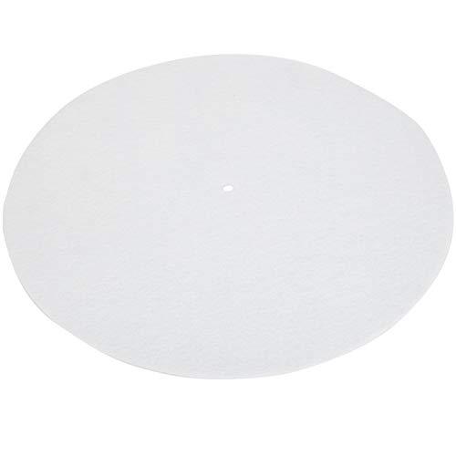 Jeanoko Estera profesional del plato de la placa giratoria para los niños y los adultos para los jugadores del disco del vinilo (blanco)