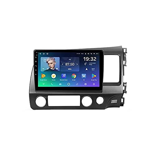 Autoradio Android 10.0 Fit per Honda Civic 8 2005-2012 (RHD) Unità touchscreen da 9 pollici con telecamera posteriore, supporto GPS/DAB + / SWC/Bluetooth/Mirror Link/USB/Wifi / 4G