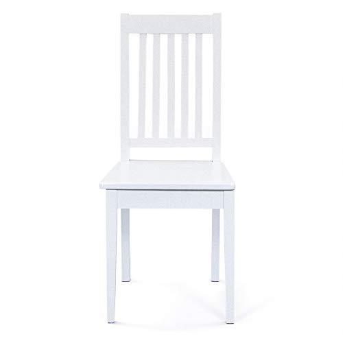 PKline Wright - Juego de 2 sillas de Comedor (Madera), Color Blanco