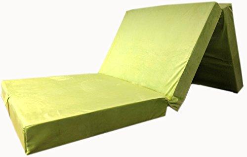 Colchón plegable tamaño XXL con aspecto de terciopelo, cama auxiliar para invitados,...