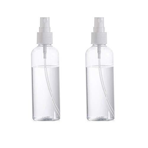 2 pcs vide clair bouteille de pulvérisation portable en plastique rechargeable