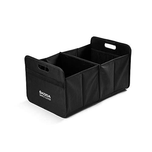 Skoda 000061104B Faltbox Transport Box Einkaufskorb Tragetasche Korb, schwarz