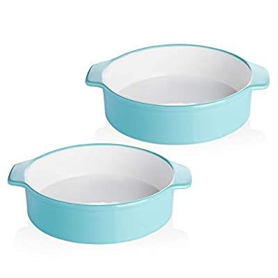 Sweese 524.202 8 Inch Round Cake Pan, Non-stick Baking Pan Set of 2, Turquoise by Sweese