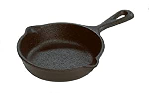 cast iron provides superior heat retention and is unparalleled for even cooking skillet is 3.5 inches in diameter. suitable for small batch melting, mini individual deserts or utilize as spoon rest mini skillet is seasoned with 100% vegetable oil; no...