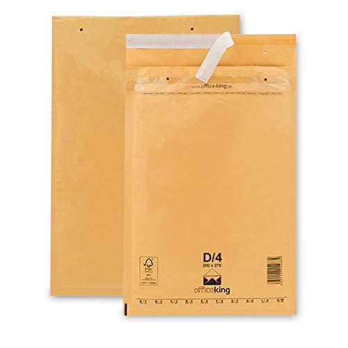50 Luftpolsterumschläge D4 braun 200x275mm DIN B5 C5+ Luftpolster Verpackung Polsterumschläge Briefumschläge gepolstert