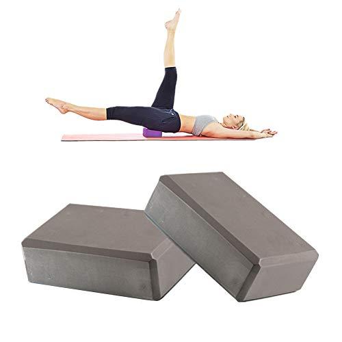 zhppac Yoga Block Ladrillos Yoga Soporte para Yoga Bloques y Ladrillos para Yoga Yoga Kit de iniciación Yoga Conjunto Bloque de Yoga Conjunto Gray,2pcs