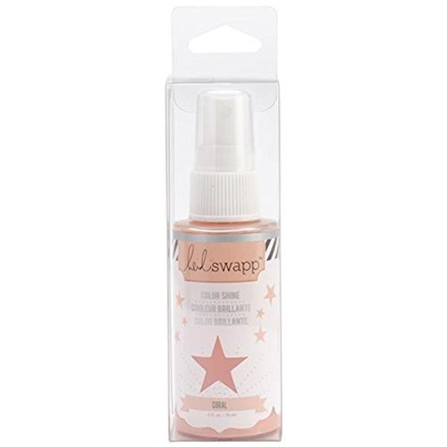 Heidi Swapp 01081 Color Shine Mixed Media-Coral-2 oz, overcasts