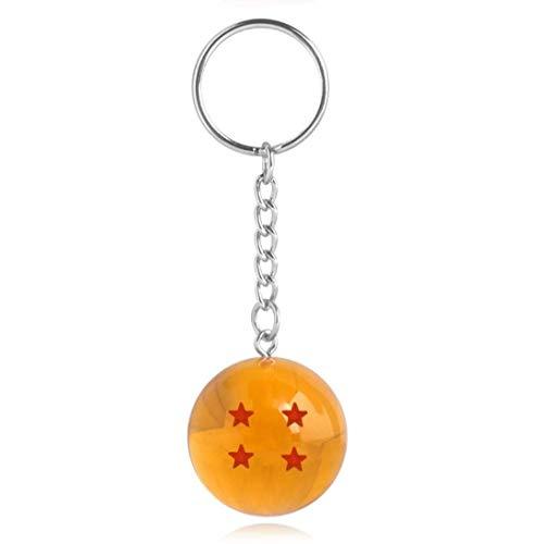 Génerico Bola de Drac Dragón Ball - Llavero Bola de Dragon - Bola de Dragon 3D (4 Estrellas) - Esfera Mágica - Bola de Dragon Z - Son Goku/Shenlog