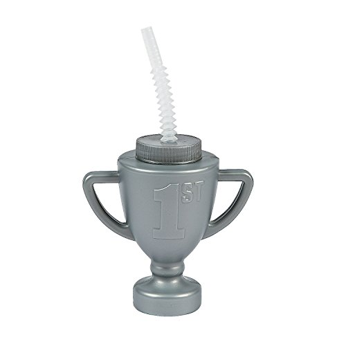 Race Car Trophy Cups with Straws (set of 12) Birthday Party Supplies