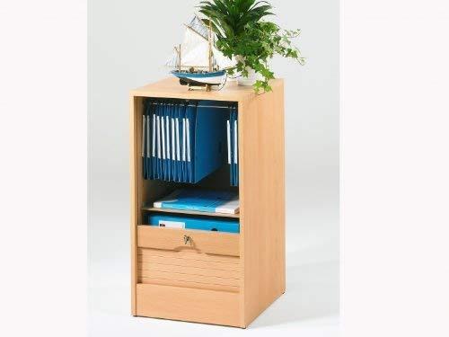 SIMMOB MATHA Classeur à Rideau Hauteur 76 cm Largeur 41 cm - Coloris - Hêtre, Bois, 44x41,4x76,4 cm