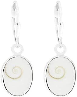 Silber Ohrringe mit Shiva Auge ca 75 x 10 mm