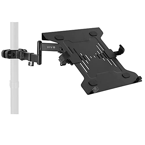 VIVO Steel Universal Full Motion Pole Mount Laptop Holder Arm with Removable...
