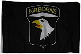 ALBATROS 12 inch x 18 inch 101st Airborne Black Sleeve Flag for use on Boat, Car, Garden for Home and Parades, Official Party, All Weather Indoors Outdoors