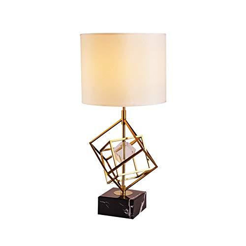 Sebasty Modern And Simple Crystal Table Lamp/Metal Fabric Living Room Bedroom Hotel Bedside Lamp Lamp Countryside