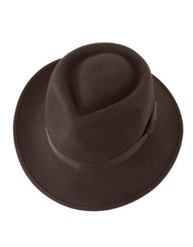 Indiana Jones Hut für Kinder, offiziell lizenzierter Wollfilz, Fedora, Braun, Größe S, 49,5 cm, Alter 2-3