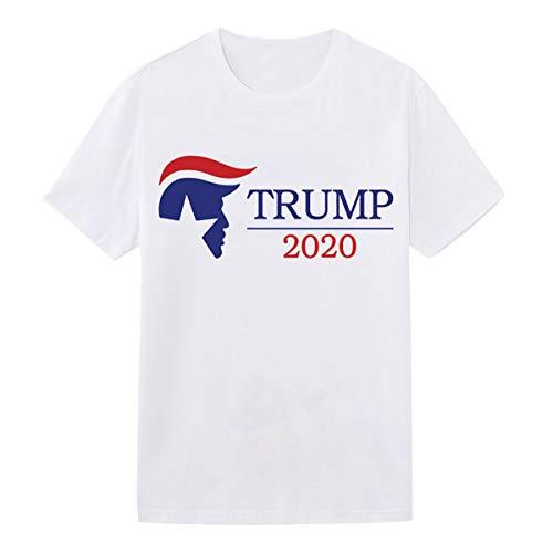 AYYSHOP Donald Trump 2020 Shirt Trump Shirts, with Trump's Classic Avatar, 100% Cotton Quick-Drying T-Shirt, Soft and Comfortable Fabric, Trump Shirts for Men Woman,L