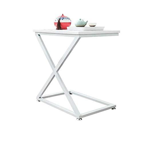 Nologo YO-TOKU - Mesita de noche para ordenador, mesa auxiliar de sofá, mesa auxiliar pequeña desmontable, mesa de café, diseño de polea, estructura de sellado, accesorios de jardín