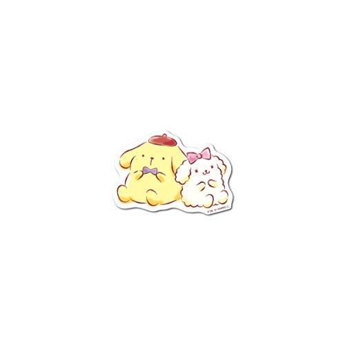 ポムポムプリン ミニステッカー プリン&マカロンちゃん キャラクターステッカー サンリオ イラスト かわいい 人気 LCS1355 gs 公式グッズ
