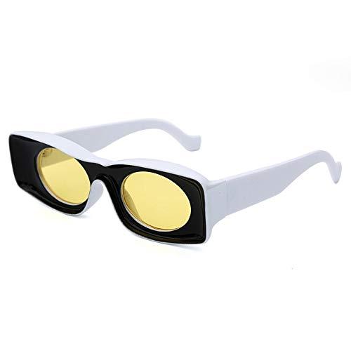 Único Gafas de Sol Sunglasses Doble Colores PopularesMujeres Diseño De Lujo Ojo De Gato Gafas De Sol HombresModa M