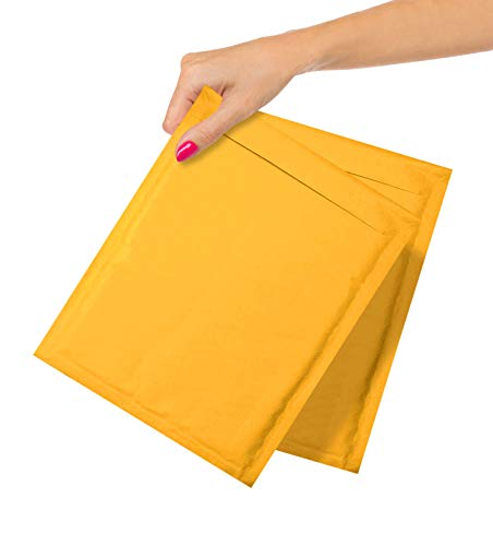 ABC Pack of 25 Gold Kraft Bubble Padded Envelopes 8.5 x 11. Kraft Bubble Peel and Seal Envelopes. Yellow Kraft Bubble Mailers 8 1/2 x 11. Shipping Bags for Mailing, Packing, Packaging. Wholesale Price