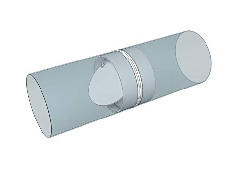 """HVAC OV 6"""" inch Duct Connector with air Backdraft Damper. Made of Durable Plastic. Ducting with Non Return Valve."""