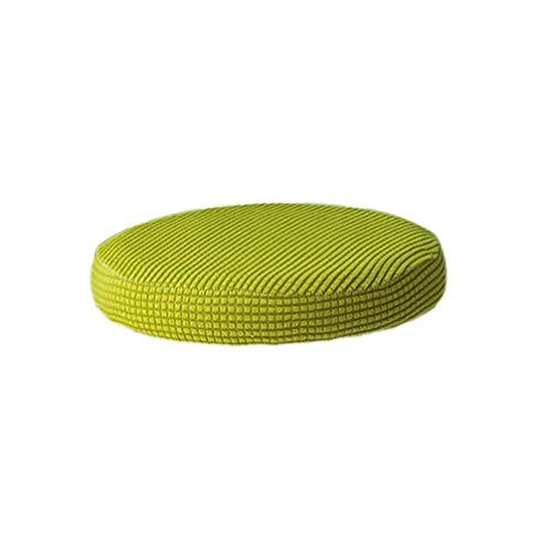 VOSAREA Cojín para taburete de bar redondo elástico asiento funda protectora funda para silla extraíble para oficina fiesta en hotel (amarillo 30-38 cm de diámetro)