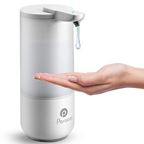 Soulcker Seifenspender, Automatischer Seifenspender berührungsloser elektrischer Automatisch Seifenspender Desinfektionsspender mit Infrarot-Bewegungssensor, IPX6 wasserdicht, 8,5 Unzen/250ml