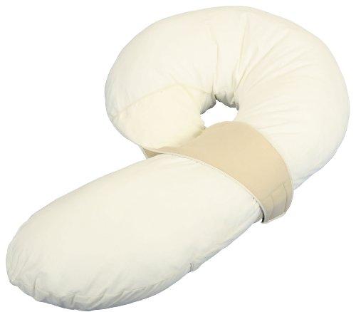 Leachco Preggle Pregnancy Maternity Comfort Air Flow Body Pillow, Ivory Khaki