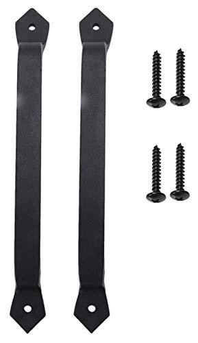 ZJSXIA 2 Confezioni da 11 Pollici Heavy Duty Sliding Barn Handle Maniglia Set per Garage Esterno Armadio Interno Maniglie Cucina