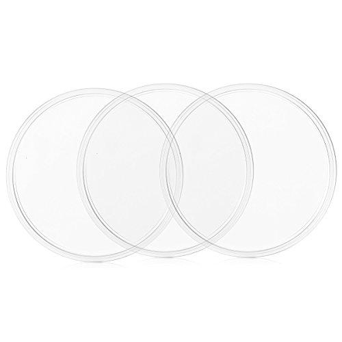 kwmobile 3X Universal Gel Klebepads - Doppelseitig klebende Anti-Rutsch Silikon Gelpads Transparent - optimal als Smartphone Halter und Navi Halterung