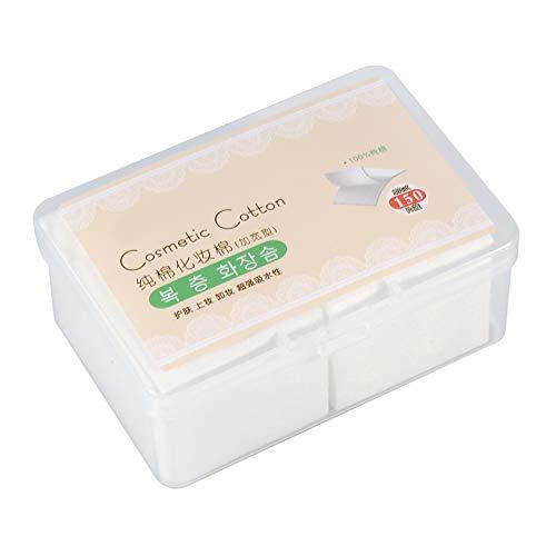 Tampon en coton nettoyant - Tampons cosmétiques en coton jetables, 150 pièces/boîte, pour démaquillant, lingette douce pour soins de la peau, tampons décapants pour vernis à ongles, sans produit chi