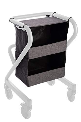 Nachttischkasten für Indoor Rollator PAGE, Zubehör, Webstoff grau, 20kg belastbar