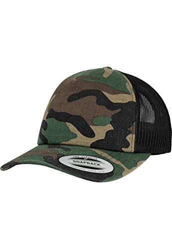 Flexfit Trucker Cap, woodcamo/Blk, one Size