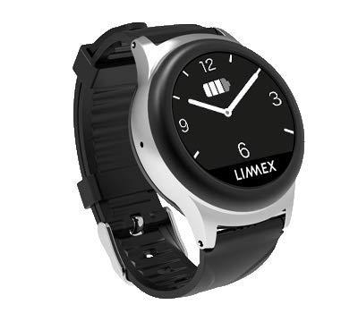 Limmex Notruf-Uhr - schwarz mit GPS-Ortung + Alarmverfolgung - maximale Sicherheit für Zuhause und Unterwegs für ältere Menschen und Senioren | 1 Knopf 2 Funktionen: Uhrzeit/Alarm