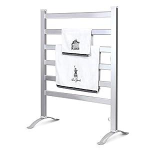 INNOKA 2-in-1 Freestanding & Wall Mounted Heated Towel Warmer & Drying Rack (UL Certified), 6 Bars & Aluminum Frame