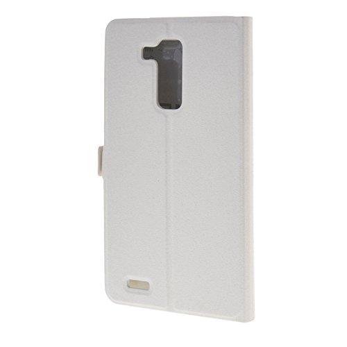 MOONCASE Etui für Huawei Ascend Mate7 Leder Tasche Schutzhülle Hülle Schale Hülle Cover Weiß
