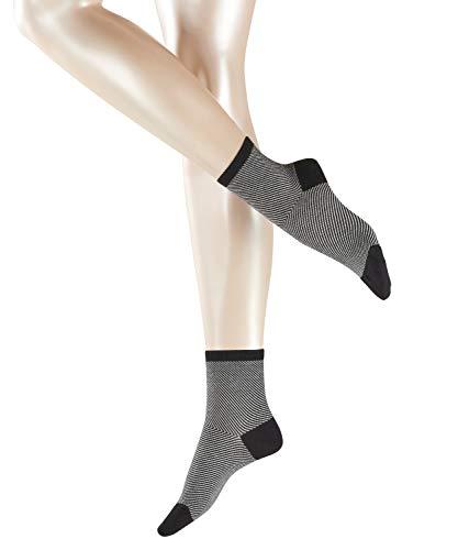 ESPRIT Damen Socken Diagonal, 80% Baumwolle, 1 Paar, Schwarz (Black 3000), Größe: 39-42
