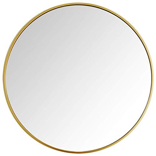 WYJW Mooi douchescherm gemaakt van echt glas - rond voor inkomhal, slaapkamer, woonkamer etc, goud