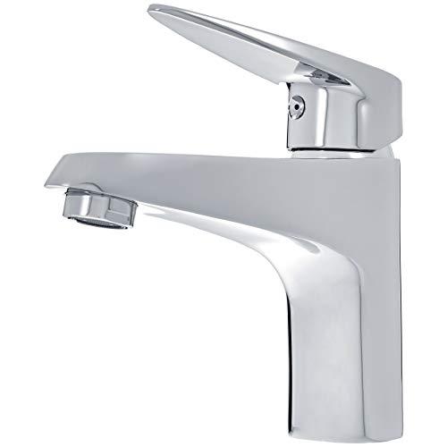 AmazonBasics - Rubinetto miscelatore moderno per lavabo, finitura cromata lucida