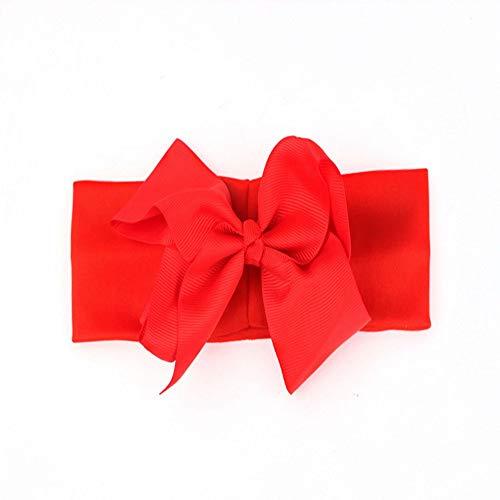 FimGGe New Bogenhaarzusätze, Kinderstirnbänder, Bandstirnbänder, Kinderbabystirnbänder, 5 Stück, rot