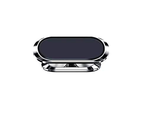 AC GSM - Soporte magnético para teléfono de coche mini sobre salpicadero universal 360 ° rotación, portátil, imán adhesivo para smartphone, compatible con iPhone, Samsung, Huawei, Xiaomi (Silvery)