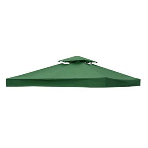 Yanchuan Tela De La Sombra del Sol 3x3m Impermeable Pop Up Harde Tent Sun Shelter Gazebo Canopy Marquee Outdoor Marquee Market Shade Anti UV Tienda de jardín (Color : Green)