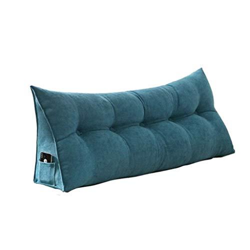 Doble Lienzo Triángulo Volver Pueden limpiarse de Noche Cojines Suaves Cojines del sofá Lumbar Almohada (Color: A, Tamaño: 1m) Hslywan (Color : A, Size : 1m)