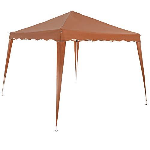 Deuba Pabellon de Jardin cenador Capri Castaño 3x3 m Carpa Plegable de jardín Impermeable y Pop Up para Eventos Camping